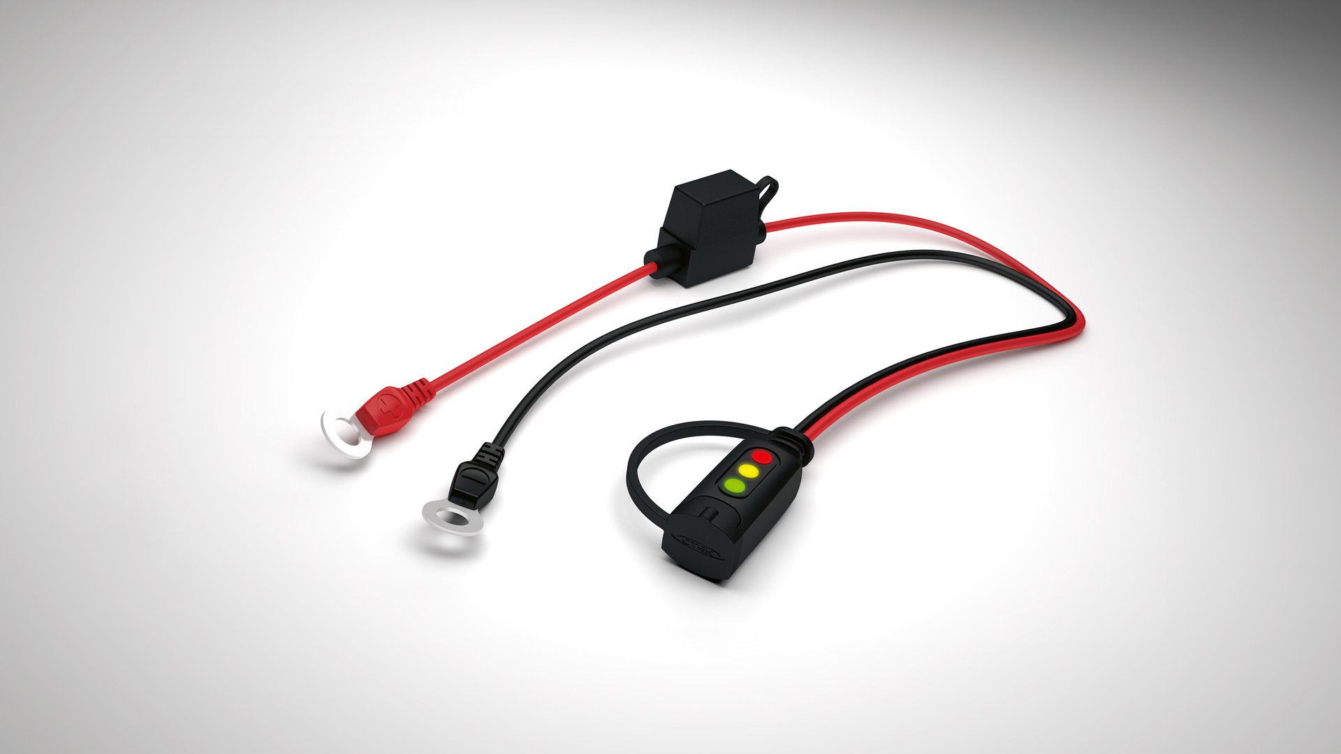 Ctek Comfort Connettore con Indicatore di Carica M8 Occhielli 56-382