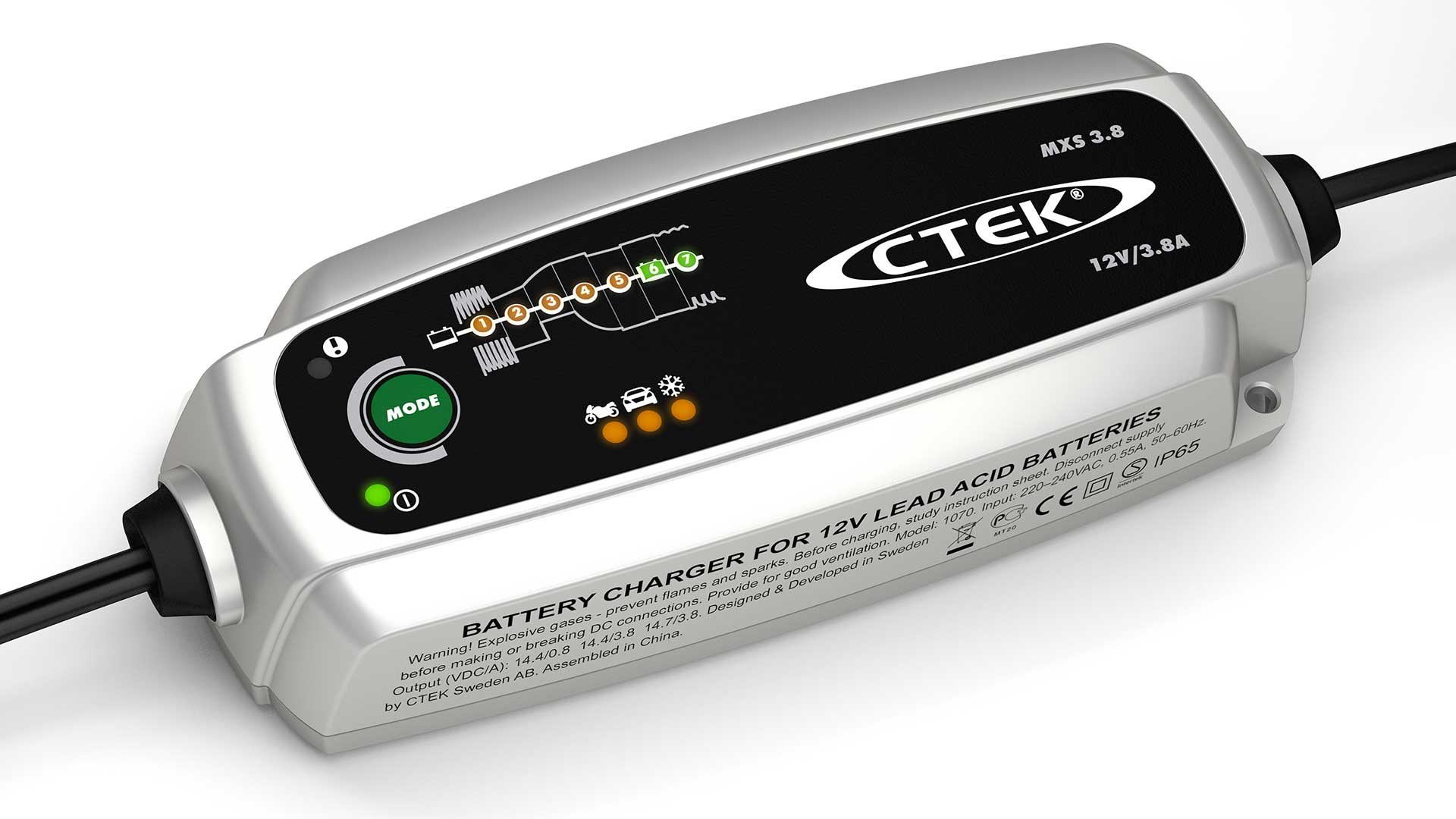 Caricabatterie 5.0 Ctek Auto Moto Automobile Caricabatterie Caricatore Ba